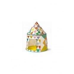 Tente - cabane multicolore