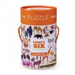 Puzzle 100pcs Animaux sauvages