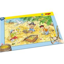 Puzzle cadre L'or des pirates