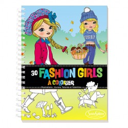 coloriage fashion girls