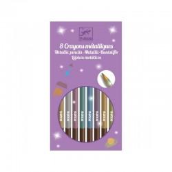 8 Crayons métalliques