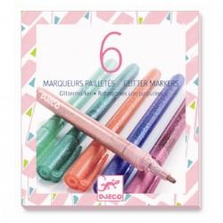 6 marqueurs pailletés sweet