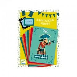 Cartes invitation - Pirates