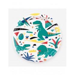 8 Grandes Assiettes Dinosaures