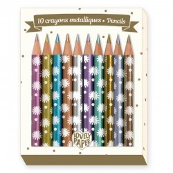 10 crayons métalliques -...