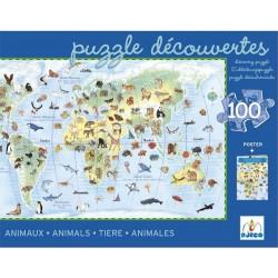 puzzle 100p animaux du monde
