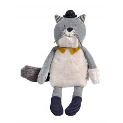 Poupée chat gris clair -...