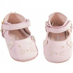 Chaussons cuir rose Il...