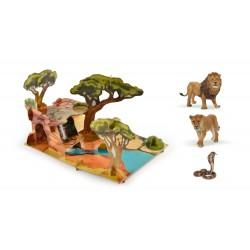 Coffret savane + 3 figurines
