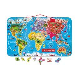 Puzzle monde magnétique 92 pcs