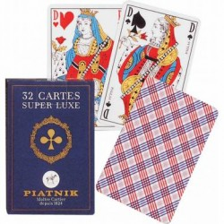 32 cartes Françaises - étui...