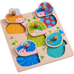Puzzle animaux multicolores