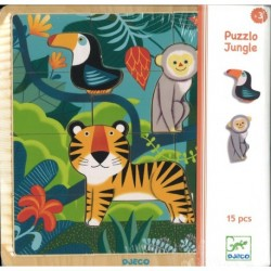 Puzzle jungle 12pcs