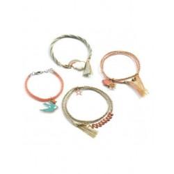 Bracelets Kumihimo-Céleste