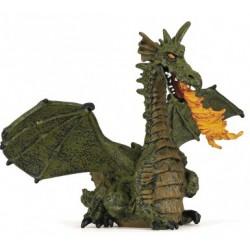 Dragon aile vert avec flamme