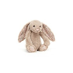 lapin beige fleuri medium