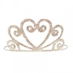 Gold glitter tiara