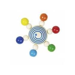 Hochet toupie de perles