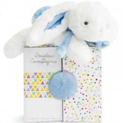 Coucou doudou lapin bleu...