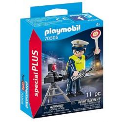Policier avec radar