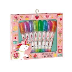 8 Mini stylos gels licorne
