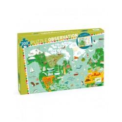 Puzzle 200 pcs tour du monde