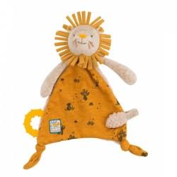 Doudou attache-tétine lion...