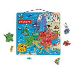 Carte magnétique d'Europe